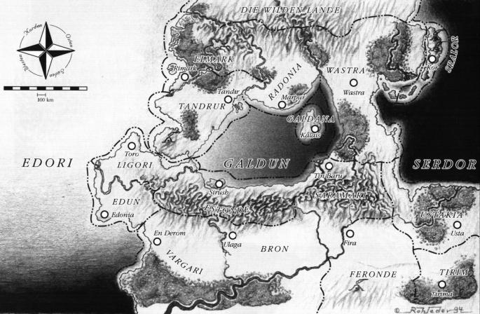 Karte Dorias in niedriger Auflösung
