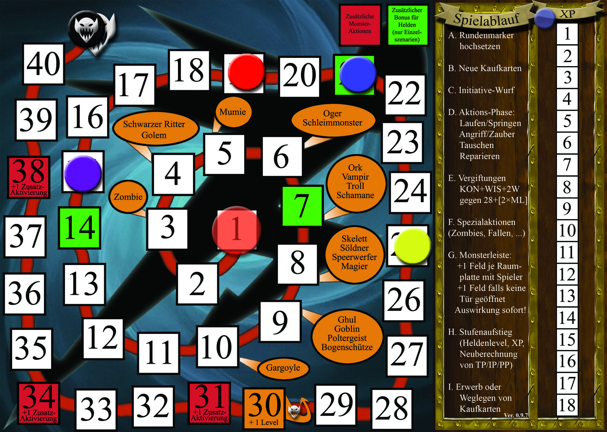 Initiative board (german version)